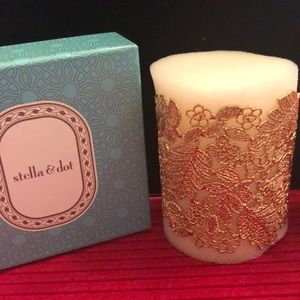 Stella & Dot Gold Chantilly Lace cuff NEW IN BOX